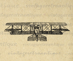 airplane, airplanes, and antique image