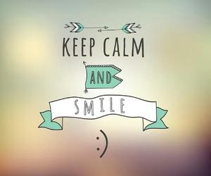 smile and keep calm image