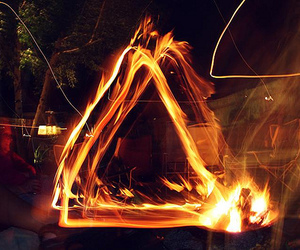 fire, triangle, and hipster image