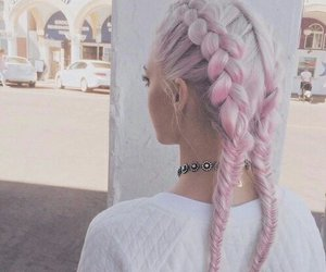 aesthetic, braids, and pink hair image