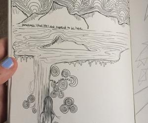 journal, art, and creative image