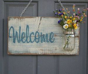 Pallet Wood Welcome Decor Craft: