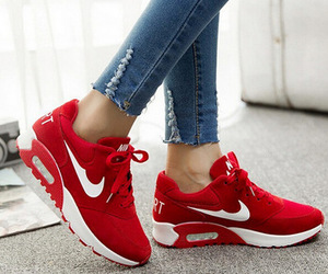 nike, red, and rouge image