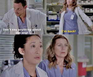 grey's anatomy, krisitina and grey, and isobel stivens image