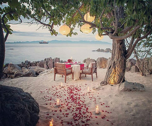 beach, engagement, and love image