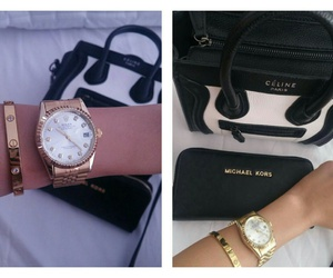 bags, cartier, and rolex image