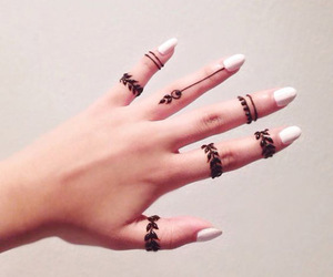 henna, nails, and hand image