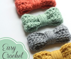 crochet, bow, and diy image