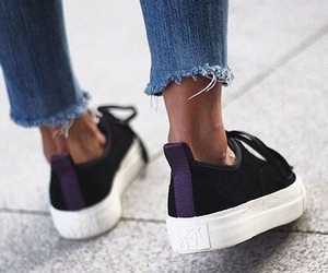 casual, denim, and sneakers image