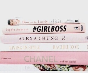 book, pink, and chanel image