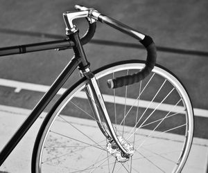 bike, fixie, and b&w image