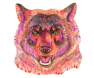 art, colorful, and bear image