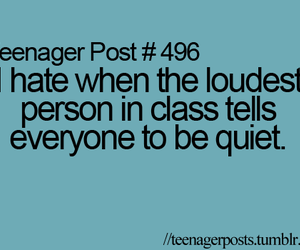 teenager post, class, and funny image
