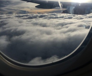 clouds, Dream, and flight image