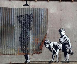 art, street art, and bansky image