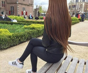 hair, adidas, and long image
