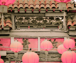 pink, chinatown, and chinese image