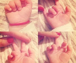 baby, cute, and hand image
