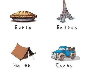 haleb, pll, and ezria image