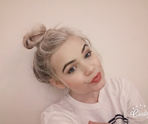 bun, grey hair, and brows image