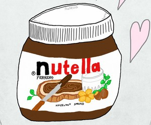 heart, nutella, and chocolate image