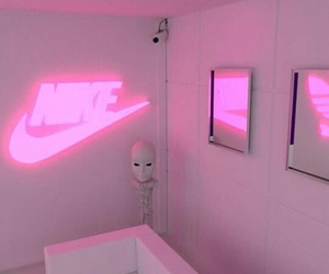 pink, nike, and aesthetic image