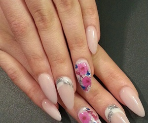 flowers, nails, and pastel image