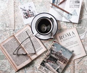 book, rome, and vacation image