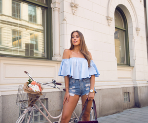 fashion, bike, and hair image