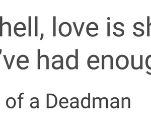 love, 👄, and theory of a deadman image