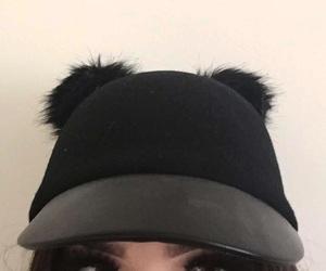 black, brunette, and eyes image