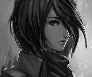 mikasa, attack on titan, and anime image