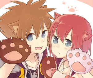 sora, kairi, and kingdom hearts image