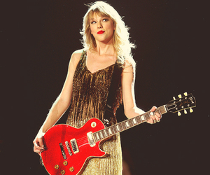 Taylor Swift, concert, and guitar image