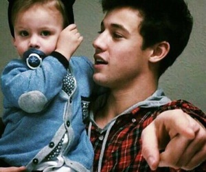 cameron dallas, boy, and baby image
