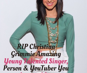 easel, rip, and christina grimmie image