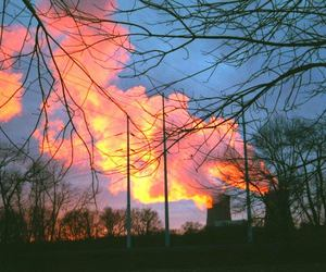 clouds, fire, and nuclear image