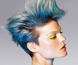 blue hair, colorful hair, and hair image