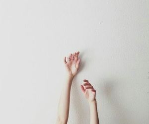 hands, white, and grunge image