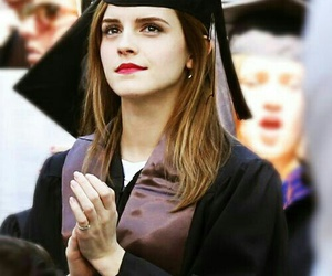 emma watson, graduation, and harry potter image