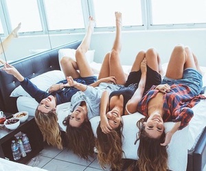 girl, friends, and friendship image