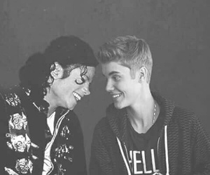 justin bieber, michael jackson, and justin image