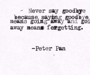 peter pan, quote, and forget image