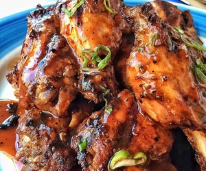 food, yummy, and chicken wings image