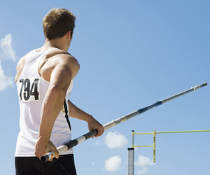 athlete, athletics, and pole vault image