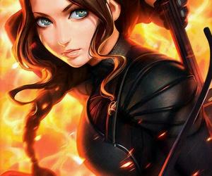 katniss, art, and anime image