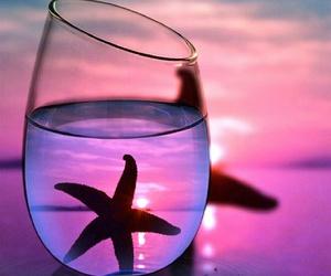 star, purple, and sea image