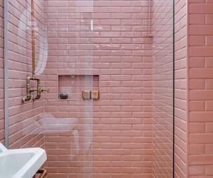 pink, bathroom, and bath image