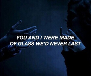 quotes, grunge, and glass image