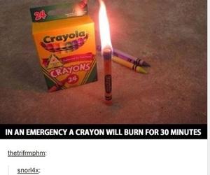 crayon, emergency, and funny image